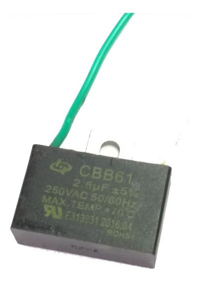 Capacitor 2,5uf 250vac Cbb61 Ventilador Teto Dois Fios