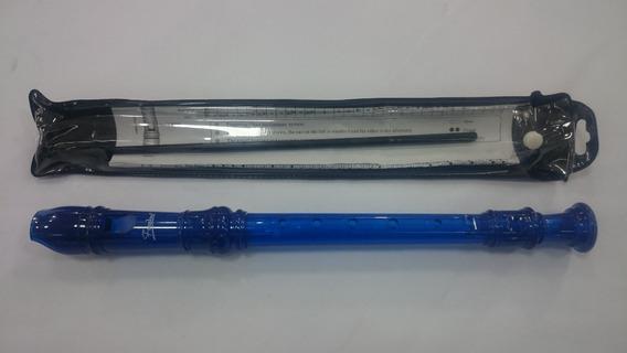Flauta Dulce Escolar Color Azul Escuelas Colegios