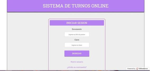 Sistema De Turnos Online - Turnero- Aplicación Web
