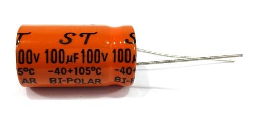 Capacitor Bipolar 100x100 100uf 100v Alto Falante 10 Unidade