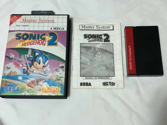 Master System : Sonic 2 Tectoy Completo C Cx Manual Detalh G