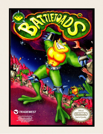 Placas Decorativas Battletoads Nintendo Nes Video Game Mdf