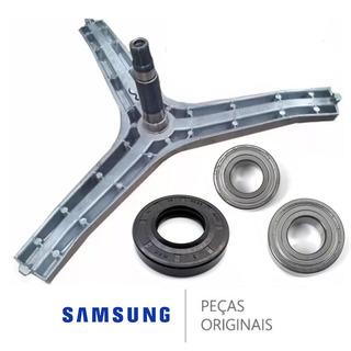 Eixo Lava E Seca Samsung 1 Retentor 2 Rolamento Original