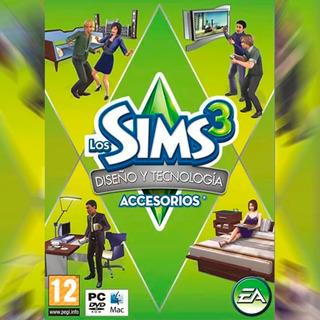 Los Sims 3 Diseno Y Tecnologia Accesorios Juego Pc Original