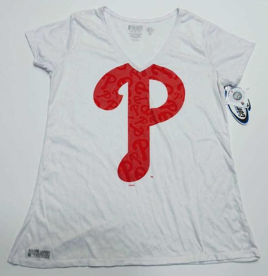 Remera Americana Philadelphia Phillies Mlb Talle Xl Mujer