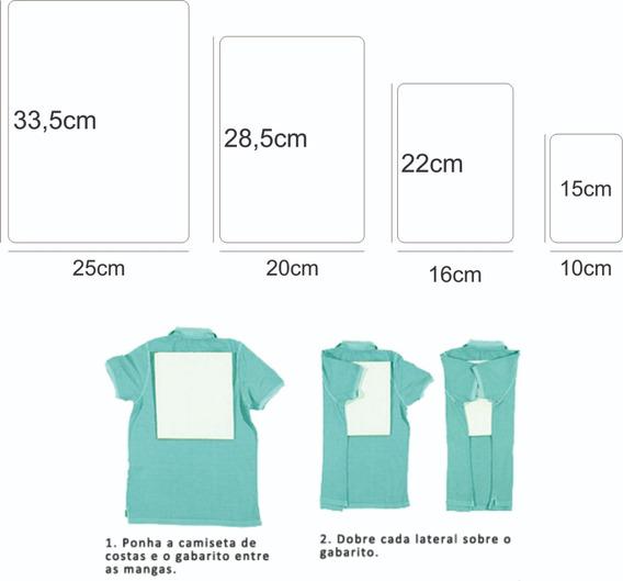 Gabaritos Molde Para Dobrar Roupa Dobradores (kit Com 4un)