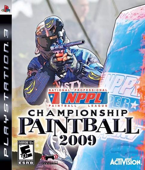 Jogo Championship Paintball 2009 Ps3 Lacrado Original Game