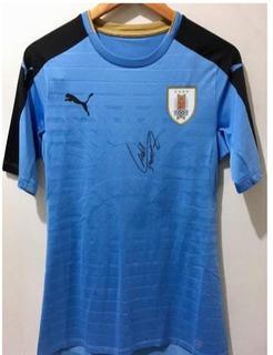 Camiseta Uruguay Firmada Suarez