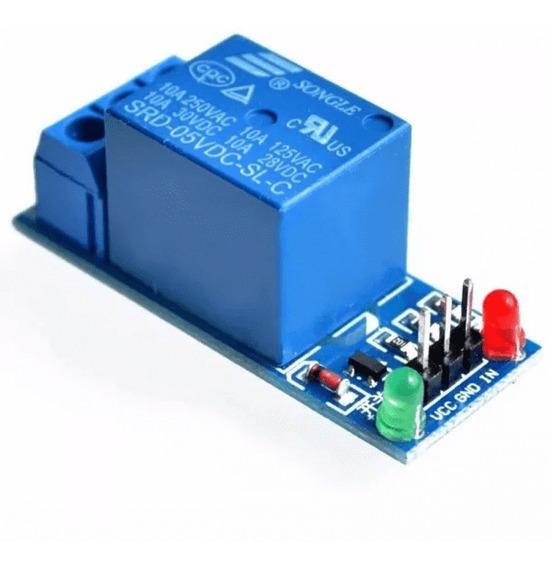 Modulo Rele 1 Canal Led Indicador Para Arduino Pi Pic 5v/10a