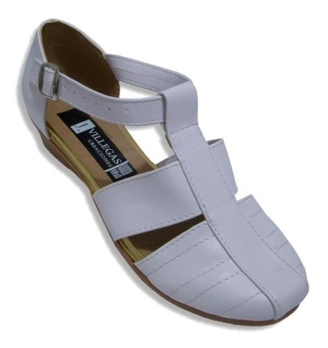 Imagen 1 de 3 de Zapato Huarache Tipo Piel Con Tacón Flat Mujer Empeine Alto