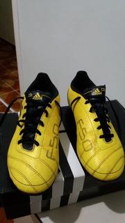 Chuteira De Campo adidas Amarela E Preta - Semi Nova Nº 34