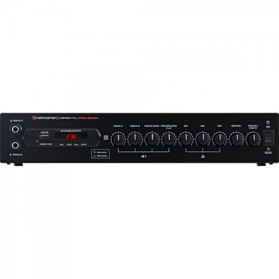 Amplificador 200w Com Bluetooth Versatil Pro-2000 Preto Hayo