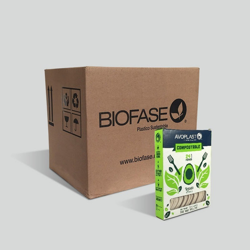 Tenedores Biofase® Biodegradable A Base Aguacate. Ecologicos