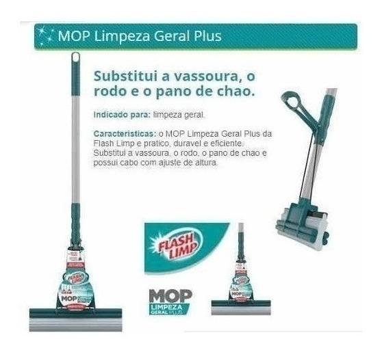 Mop Rodo Magico Flash Limp Original Limpeza Geral Plus 7671
