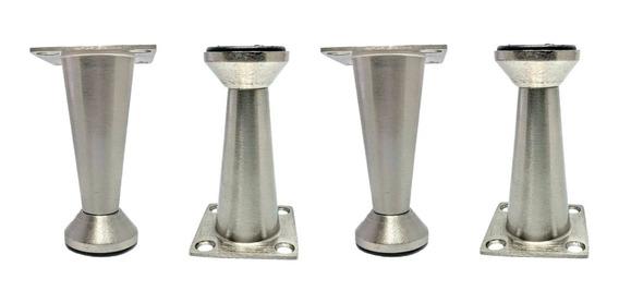 Altura 13 cm Tornillos insertados Rimini Juego de 4 patas cromadas Patas para sof/á-sill/ón-muebles.