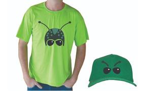Camiseta Camisa Blusa Personalizada Gafanhoto Com Boné