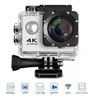 Camera 4k Sports Ultra Hd Dv H.264 (preta E Prata )