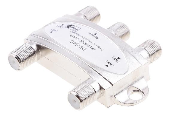 Fta Switch 4x1 Diseqc Antena Parabólica Para Receptor Fta 4