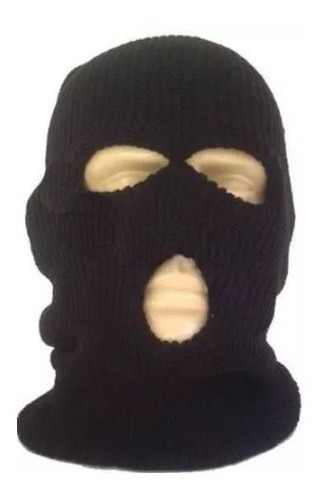 Touca Ninja Capuz Balaclava 3 Furos Preta Motoqueiro Touca
