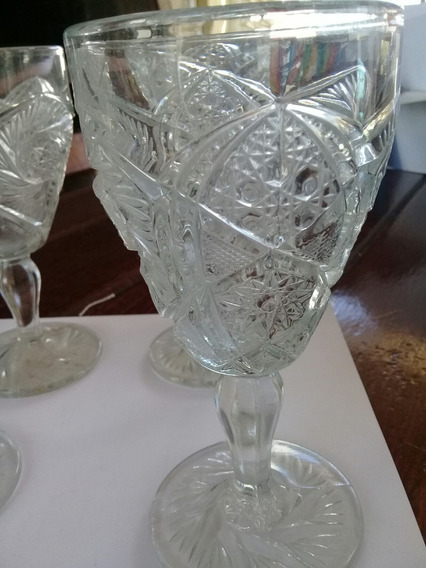 Copas De Cristal Labrado