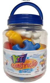 Kit Construção Brinquedo Infantil Montar Didático 24 Peças