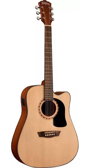 Guitarra Washburn Electroacustica Ad5 Ce Natural. Cuotas