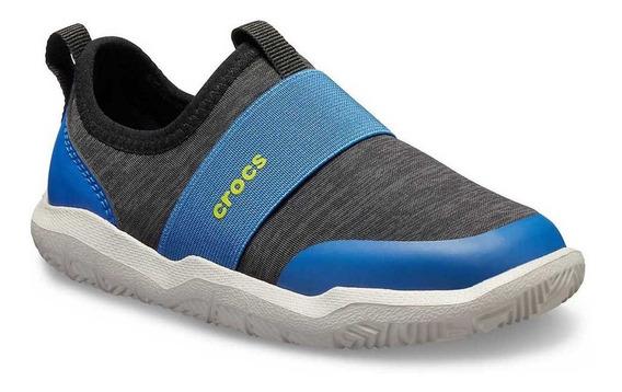 Zapatillas Crocs Swiftwater Easyon Hthr Shoe Kids Navy