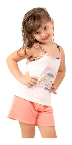 Kit 5 Pijama Curto Infantil Feminino Atacado Roupa De Menina