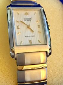 Relógio Citizen Aço E Ouro Com Estojo - À Prova D