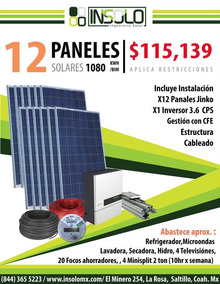 Kit 12 Panel Solar