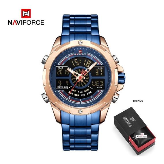 Relógio Masculino Naviforce 9170 Analógico Digital Esporte