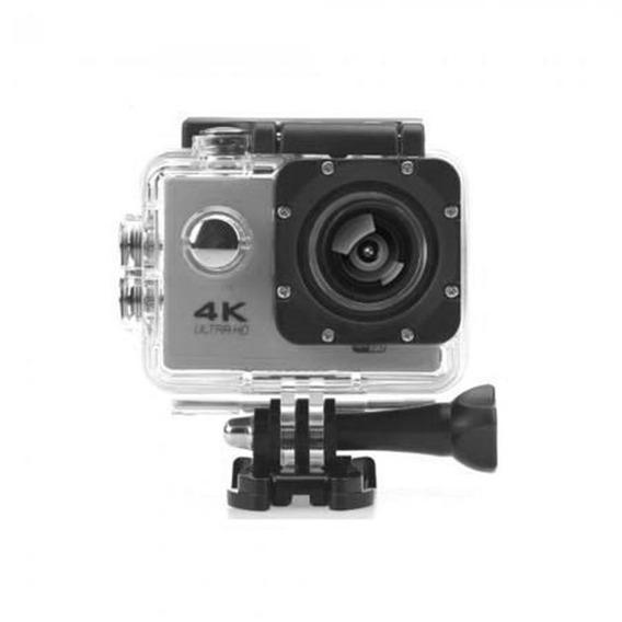 Camera Wifi 4k Prata Ultra Hd Filmadora 16mp Prova Dagua