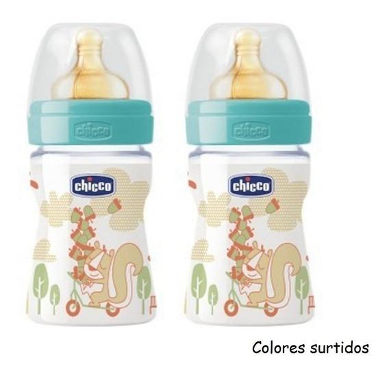Mamadera 2x1 Chicco Tetina Latex 150ml 250ml 2m+ Babymovil