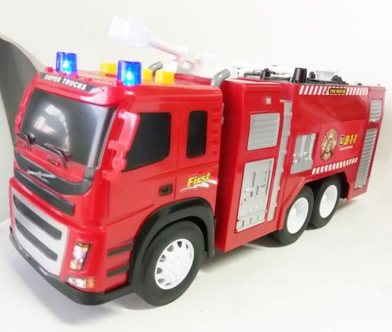 Camion Bombero Plastico Esc1:12 Grande Sonido Luces 32cm