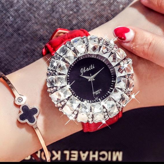 Relógio Glaiti Fashion Super Luxo Com Pedras