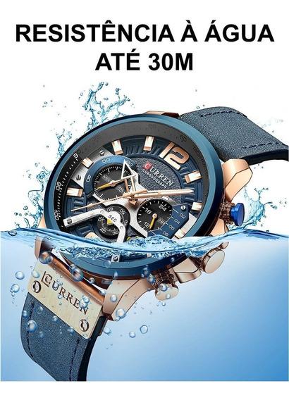 Relógio Curren Modelo De Luxo