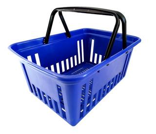 Canasto Autoservicio Plástico Reforzado Supermercado X6
