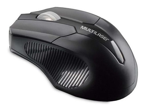 Mouse Sem Fio 2.4ghz 1600 Dpi Usb Preto Mo264 Multilaser.