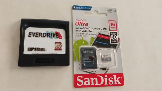Everdrive Game Gear Original Krikzz Cartão Sd 16gb Original