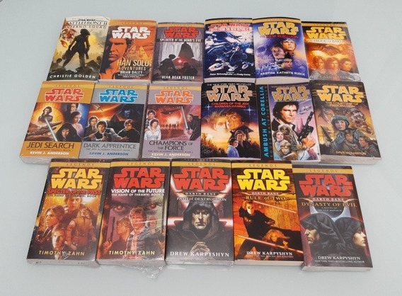 Kit 17 Livros De Star Wars Importados