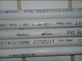 Tubería Pavco Electricidad ½ ¾ Y 1 .