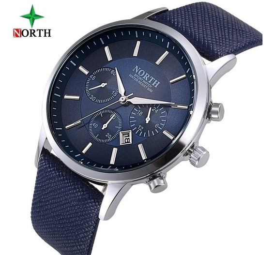 Relógio Masculino Luxo Casual Sport Resistência À Água Promo