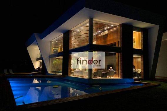 Residência Libery No Resort Portobello Em Angra Dos Reis/rj Arquitetura Moderna E Ousada., Com 6 Suítes, Piscina, Jardim E Canal Navegável! - Ca0856