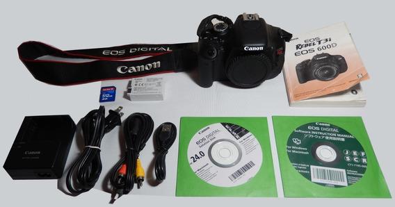 Câmera Canon Eos T3i - Pouco Usada