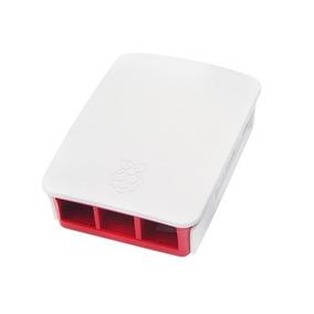 Case Raspberry Pi3 - Oficial - Branco Com Vermelho