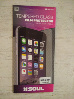 Vidrio Protector Tempered + Funda Tpu Motorola G6 Play
