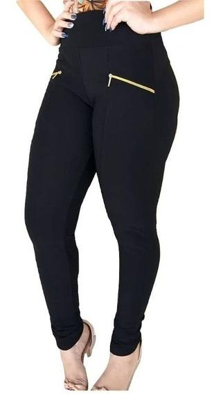 Calça Montaria Gorgurao Legging Feminina Leg Canelada Bolso