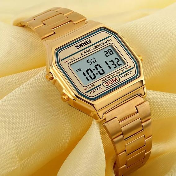 Relógio Unissex Skmei Digital 1123 Dourado