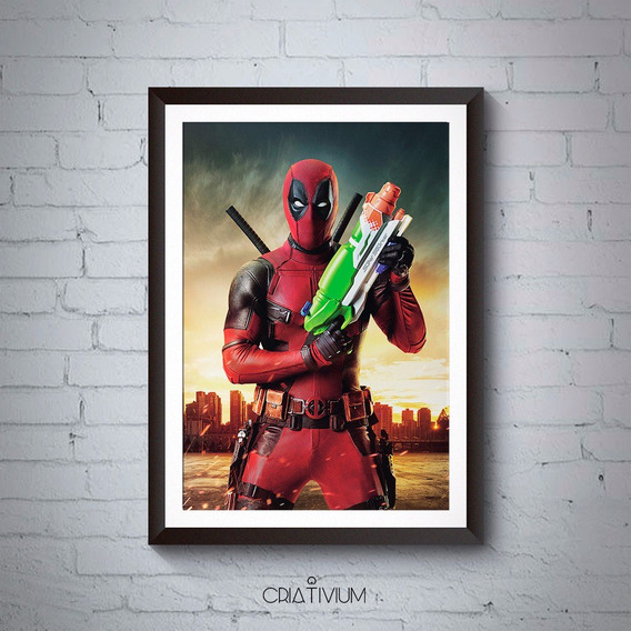 Quadro Decorativo Deadpool 40x30cm