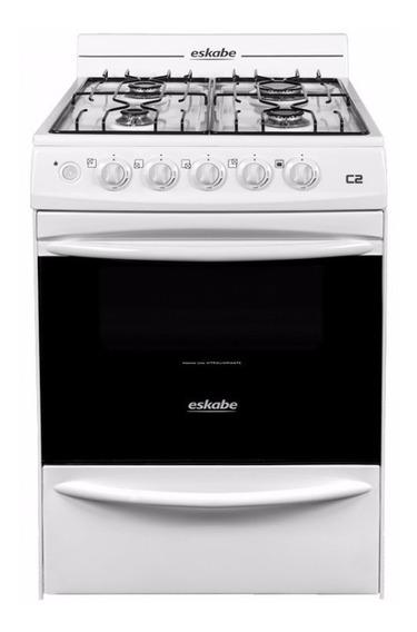 Cocina Eskabe C2 Bc G/nat Blanca 57 Cms Encendido En Horno